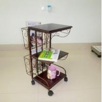 Wholesale Small Library Furniture Metal Magazine Rack Storage With 3 Board DX-K134 from china suppliers