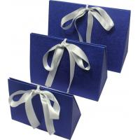 Wholesale Simple folding apparel  Customized Gift Boxes with show window and silk ribbon from china suppliers