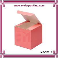 Quality 4x4x4 pink favor box, high end cube candle gift box ME-CE012 for sale