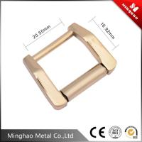 Quality Spanish square metal bag buckle,16.92*20.55mm zinc alloy backpack buckle for sale