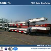 Wholesale tri-axle 40 footer low bed trailer with 40 tons load capacity from china suppliers