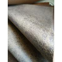 Wholesale Brown Durable Suede Leather Fabric , Faux Leather Fabric For Upholstery from china suppliers