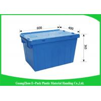 Wholesale Light Weight Plastic Attached Lid Containers Moving Storage Nestable And Stackable from china suppliers