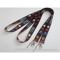 Quality Double Sides Dye Sublimation Soft Printed ID Neck Lanyard, Holiday ID Lanyard for sale