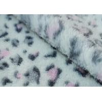 Wholesale Coral Fleece Fabric With SGS Certification Leopard printed 160cm width from china suppliers