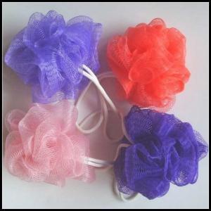 Quality Multi Color Bath Balls Body Exfoliate Puff Sponge Mesh Shower Balls Bath Puff for sale