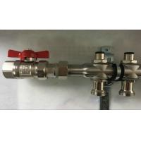 Buy cheap Bambool Stainless Steel Water Manifold With Sliver Color , Central Heating Manifold from wholesalers