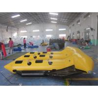 Wholesale 0.9mm PVC Tarpaulin Inflatable Flying Fish Boat for 6 Person , Yellow and Black from china suppliers