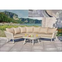 Wholesale Brown Outdoor Furniture Round Couch / Wicker Backyard Patio Furniture Sofa from china suppliers
