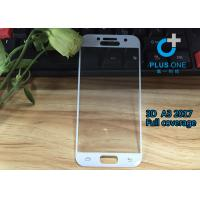 Buy cheap AGC Tempered Glass 3D Curved Screen Protector For Samsung A3 2017 White Color from wholesalers