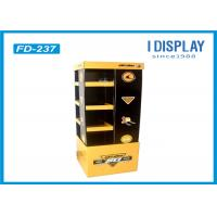 Recyclable Cookware Retail Cardboard Floor Display Stands Classical Printing