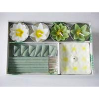 Wholesale Fragrance Scented Flower Tealight Candle And Incense Gift Sets from china suppliers