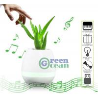 Wholesale Smart Music Flower Pot Play Piano Bluetooth Speaker LED Flowerpot from china suppliers