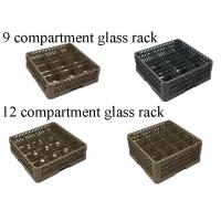 Wholesale PP Compartment Glass Rack Kitchen Plate Rack For Commercial Dishwashing Machine from china suppliers