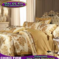 Wholesale Golden Color King Size Cotton Jacquard Bedsheet Duvet Cover Sets from china suppliers