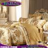 Buy cheap Golden Color King Size Cotton Jacquard Bedsheet Duvet Cover Sets from wholesalers