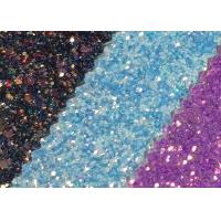 Wholesale Attractive Style 3D Glitter Fabric Multi Color Pu Glitter Leather Rainbow Chunky Glitter Fabric from china suppliers