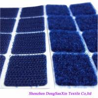 Wholesale Square Type Hook And Loop Fabric Sheets , Blue Velcro Sticky Pads A Garde from china suppliers