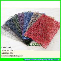 Wholesale LDTM-047 new design pure color table mat hand woven rectangulr paper straw placemats from china suppliers