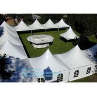 Quality Chinese Waterproof Marquee Gazebo Tent 4x4m With Glass and ABS walls for sale