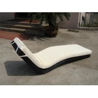 Wholesale Hotel Park Strong Brown Sunlounger With Power Coated Aluminum Frame from china suppliers