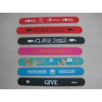 Wholesale silicone slap snap wristband bracelet with soft silicone costing ,silicone bracelet from china suppliers