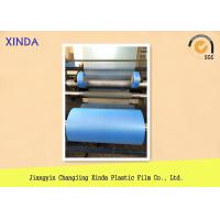 Embossing Blue 15mic Thickness PE Packaging Film For Disposable Shoe Cover