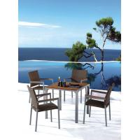 Wholesale Grey Wooden Spain Style Table and outdoor wooden chair (1+4) (1183-6183#) from china suppliers