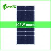 Wholesale 105W Monocrystalline Solar Panels for Camping and Portable Lighting Solar system from china suppliers