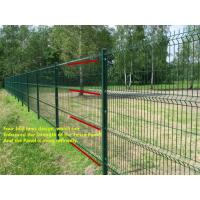 Wholesale Green Black Vinyl Coated Welded Wire Fencing , Railway Garden Wire Fencing from china suppliers