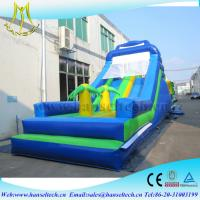Wholesale Hansel hot children game equipment inflatable fun park with bouncer jumping slide from china suppliers