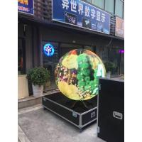 Quality P4 P5 customized diameter curved led ball display video led TV board for sale