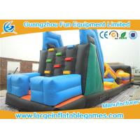 Wholesale Summer Sports Inflatable Obstacle Course For Rent , Bouncy Obstacle Course Vertical Climb With Slide from china suppliers