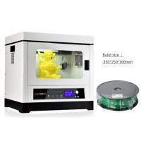 Wholesale Aluminum Heating Bed Desktop 3D Printer , PLA ABS Filament 1.75mm 3D Printer Machine from china suppliers