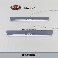 Wholesale Kia KX3 Car accessory stainless steel scuff plate door sill plate light LED from china suppliers