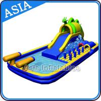 Wholesale Outdoor  Inflatable Water Park Slide With Swimming Pool , Inflatable Aviva Water Park from china suppliers