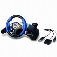 Wholesale 5-in-1 Multifunctional Steering Wheel for PSX3, PSX2, USB, Xbox, and PSX from china suppliers