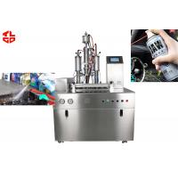 Wholesale 316 SS Aerosol Spray Filling Machine for Carburetor Cleaning Agent 800-1100cans/hour from china suppliers