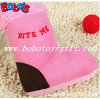 Wholesale Pink Plush Boots Pet Dog Toy With Squeaker from china suppliers