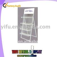 Wholesale 4-tier snack floor display rack from china suppliers