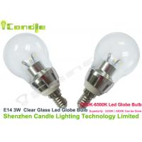 Buy cheap No flickering 3w E14 Glass Led Globe Bulb environment-friendly from wholesalers