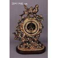 Wholesale polyresin two bird table clock from china suppliers