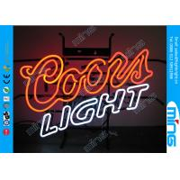 Wholesale Acrylic White Orange Led Light Signs with Steel Bracket , CE UL Neon Lighting from china suppliers