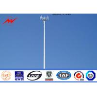 Wholesale Tapered Monopole Antenna Tower Galvanised Mobile Communication Tower Three Sections from china suppliers