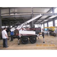 Wholesale Light weight trailer water well drill rig with dth and mud drilling capacity from china suppliers