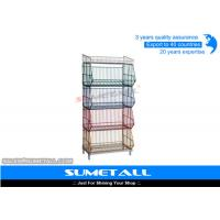 Wholesale 5 Tiers Colorful Stackable Wire Metal Shelving , Wire Storage Racks For Promotional Products from china suppliers