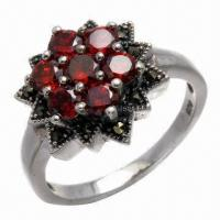 Wholesale Amethyst Silver Ring, Available in Various Styles from china suppliers