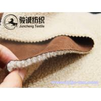 Wholesale Thick and warm micro suede fabric with lamb wool back for overcoat and jaket from china suppliers