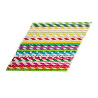 Wholesale Oil Resistant Colored Paper Straws , Retro Paper Straws Beautifully Printed Appearance from china suppliers