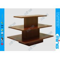 Wholesale 3 Steps Walnut Rectangular Wooden Store Displays Table , Melamine Finish from china suppliers
